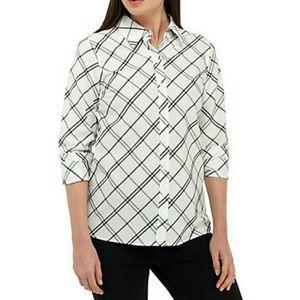 Kim Rogers® Long Sleeve Easy Care Shirt - NWT